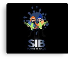 Squids in Black Canvas Print
