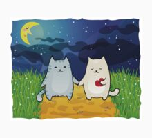 Cats under the moon Baby Tee