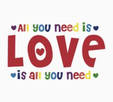 All you need is love rainbow Kids Clothes