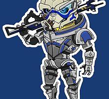 Mass Effect 3: Garrus Vakarian Chibi by SushiKittehs