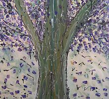 Large Jacaranda Tree by Julie  Sutherland