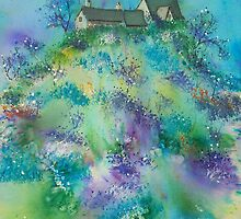 Cottages on the Hill Top by FrancesArt