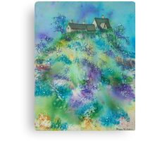 Cottages on the Hill Top Canvas Print