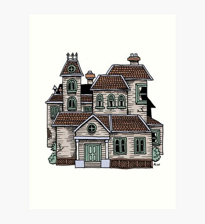 Haunted House (Full Colour) Art Print
