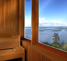 Finland Sauna Interior by Digital Editor .
