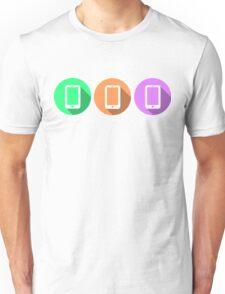 Colourful Phones Unisex T-Shirt