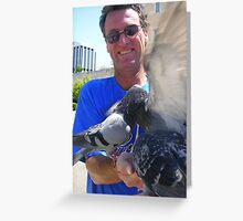 Dennis and the birds Greeting Card