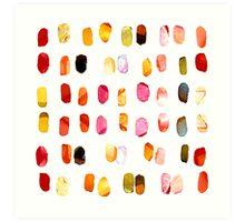strokes of colors Art Print