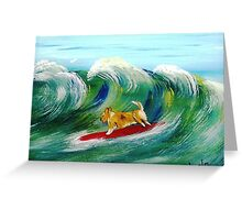 Surfin' Surprise Greeting Card