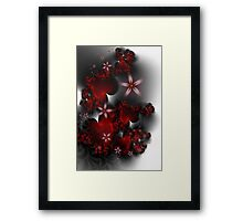 Hearts and Flowers Framed Print