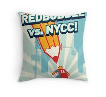 RedBubble vs. NYCC Throw Pillow