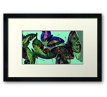 Abstracted Butterflies in Fauvist Colors #4 Framed Print