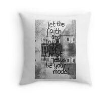 2 Timothy 1: Faith and love of Christ Throw Pillow
