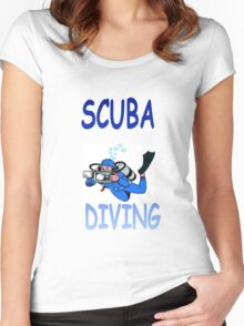SCUBA DIVING Women's Fitted Scoop T-Shirt