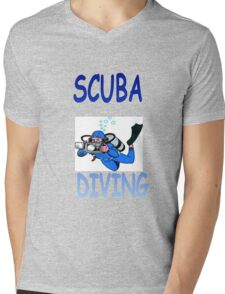SCUBA DIVING Mens V-Neck T-Shirt