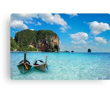 Postcard from the Andaman Sea in Thailand Canvas Print