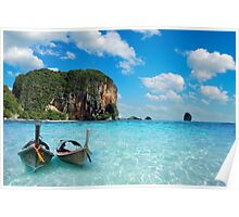 Postcard from the Andaman Sea in Thailand Poster