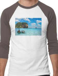 Postcard from the Andaman Sea in Thailand Men's Baseball ¾ T-Shirt