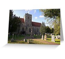 The Assumption of Blessed Mary and St. Nicholas, Etchingham Greeting Card
