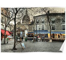 Place du Tertre, Montmartre, in the morning Poster