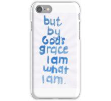 1 Corinthians 15: God's grace iPhone Case/Skin