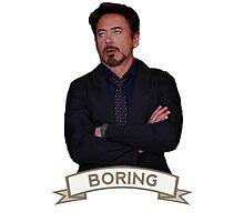Tony Stark Boring by zanzojaco