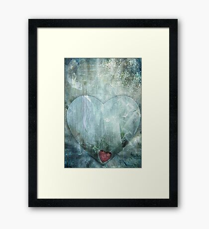 Heart of Ice Framed Print