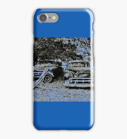 Vintage Decay in Blue iPhone Case/Skin