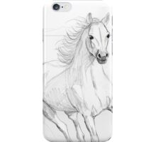 Running Arabian Horse Pencil Drawing iPhone Case/Skin