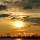 Sunrise over Atlantic ocean near New York City by Vitaliy Gonikman