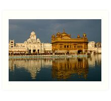 Amritsar's Golden Temple Art Print
