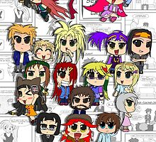 Cafe Indie Chibi Group by Karto