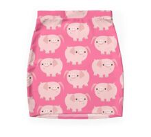 Cute Smart Cartoon Pigs by Cheerful Madness!! Mini Skirt