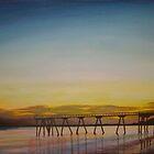 Scarness Jetty at Dawn. by Melanie Froud