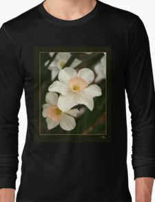 Small Daffodills in the Underbrush Long Sleeve T-Shirt