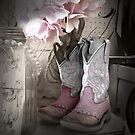Pink Cowgirl Boots by Colleen Drew