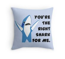 Left Shark Dancing Valentine Throw Pillow