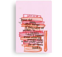 John 21: What Jesus did Canvas Print