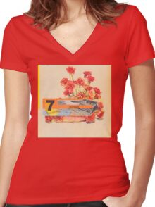 Teenage Women's Fitted V-Neck T-Shirt