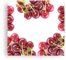 Juicy Cherries Canvas Print