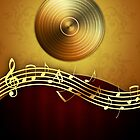 Golden Music Notes by Digifuture