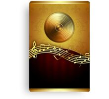 Golden Music Notes Canvas Print