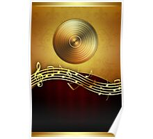 Golden Music Notes Poster