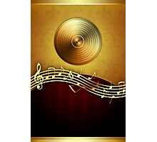 Golden Music Notes Photographic Print