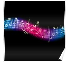 Dancing Music Notes Poster