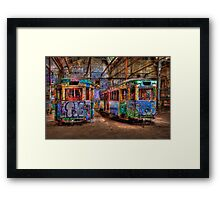 Two Trams Framed Print