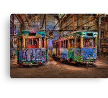 Two Trams Canvas Print