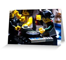 DJ Brick Greeting Card