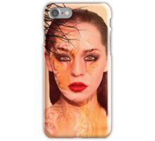 Tiger eyes portrait iPhone Case/Skin