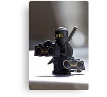 The Black Ninja Metal Print